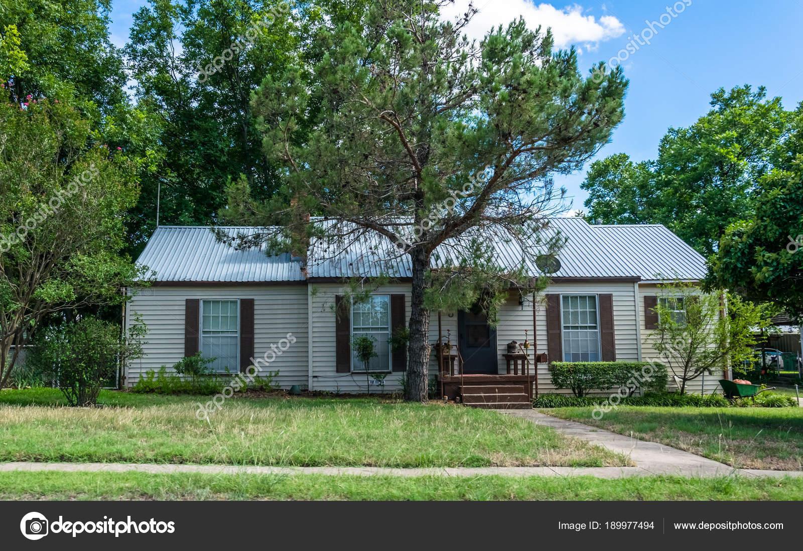 Moderne Landleben Texas Altes Holz Haus Und Garten U2014 Stockfoto