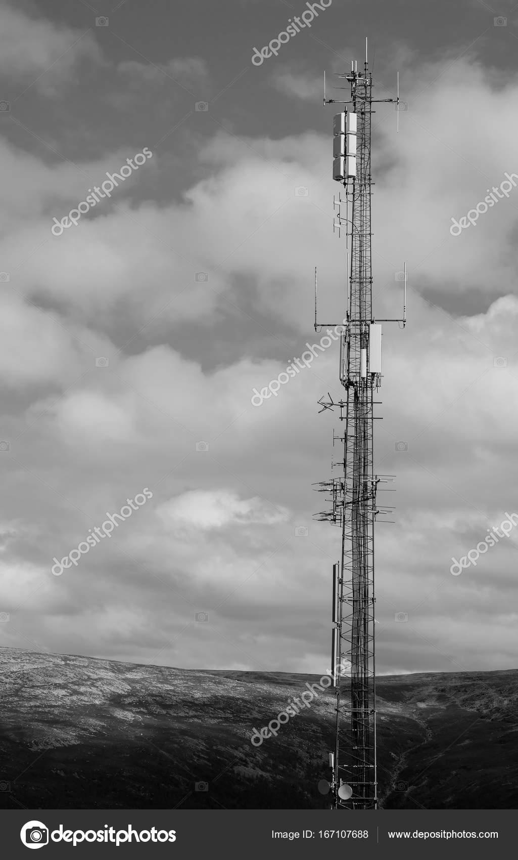 Sfondo Bianco E Nero Verticale Torre Meteorologica Di Norvegia