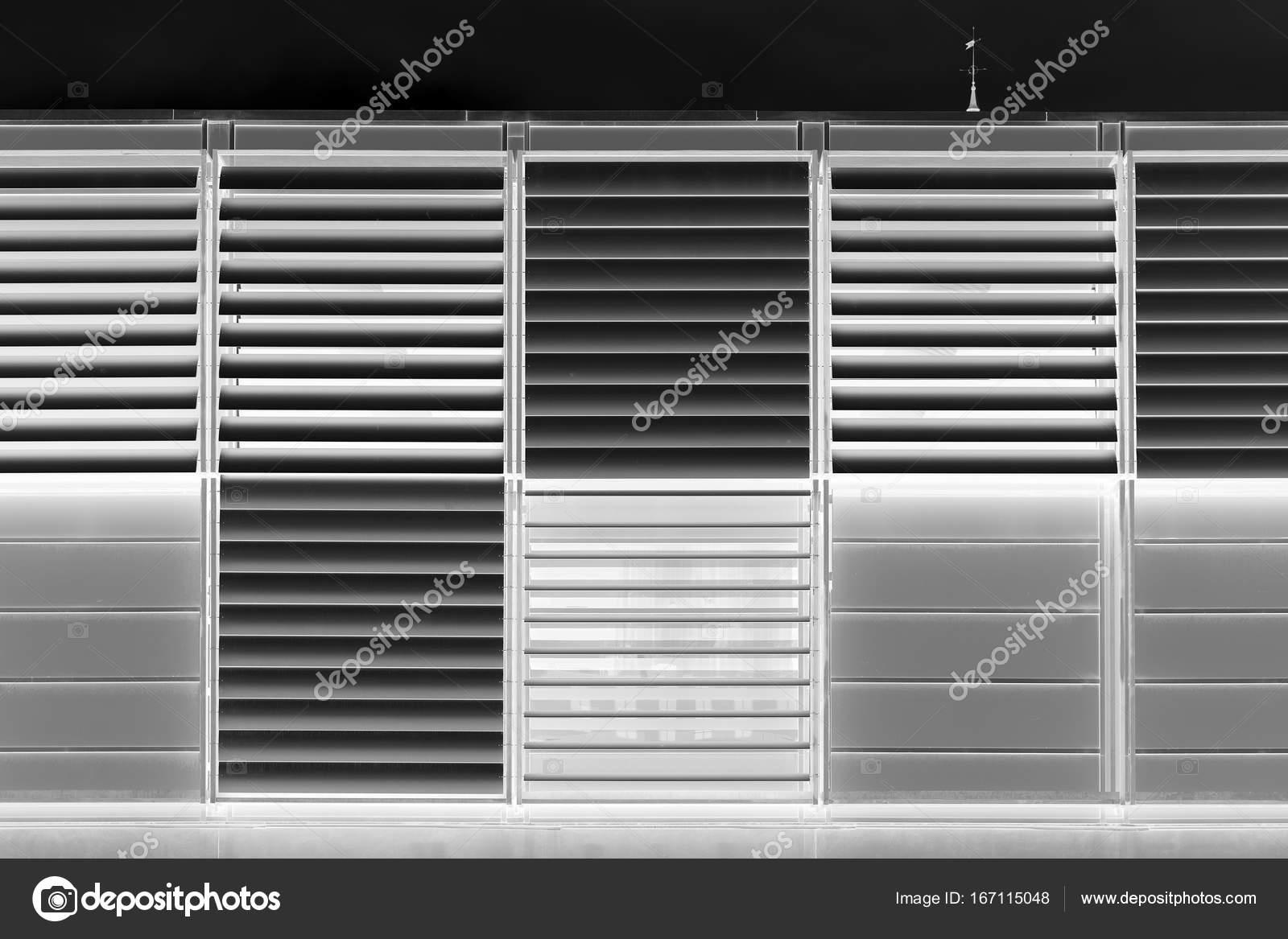 Schwarz Weiss Moderne Jalousie Textur Hintergrund Stockfoto