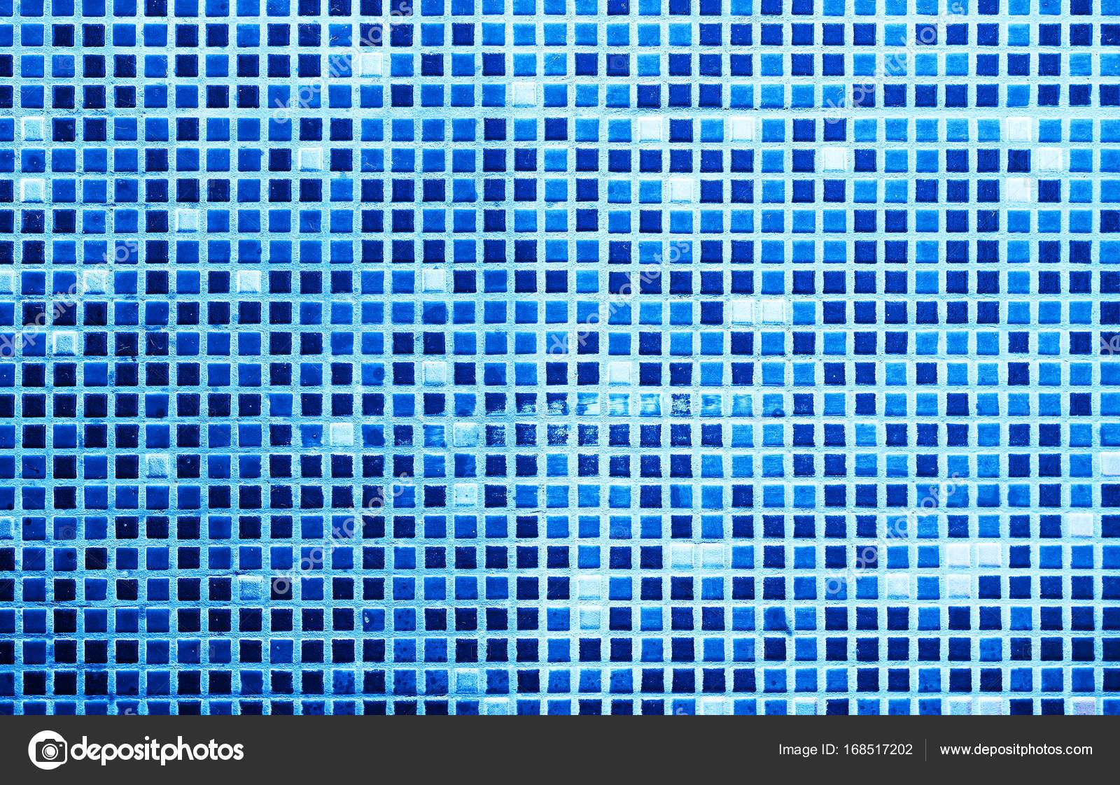 Horizontal blue tiled wall texture background — Stock Photo ...