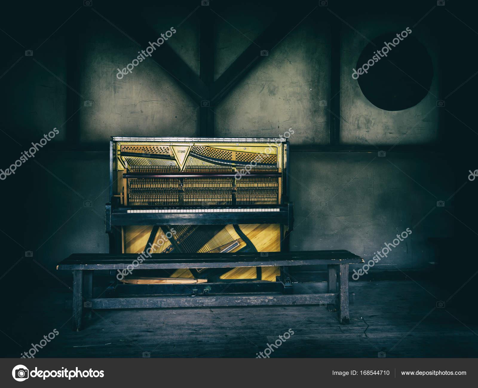 Horizontale Vintage Piano Salon Wildwest Dekoration Hintergrund ...