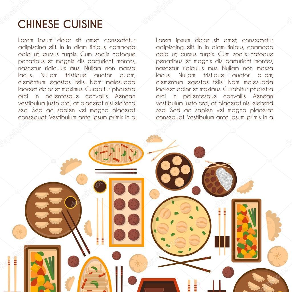 Vector Cartoon chinesische Küche Essen — Stockvektor © petitelili ...
