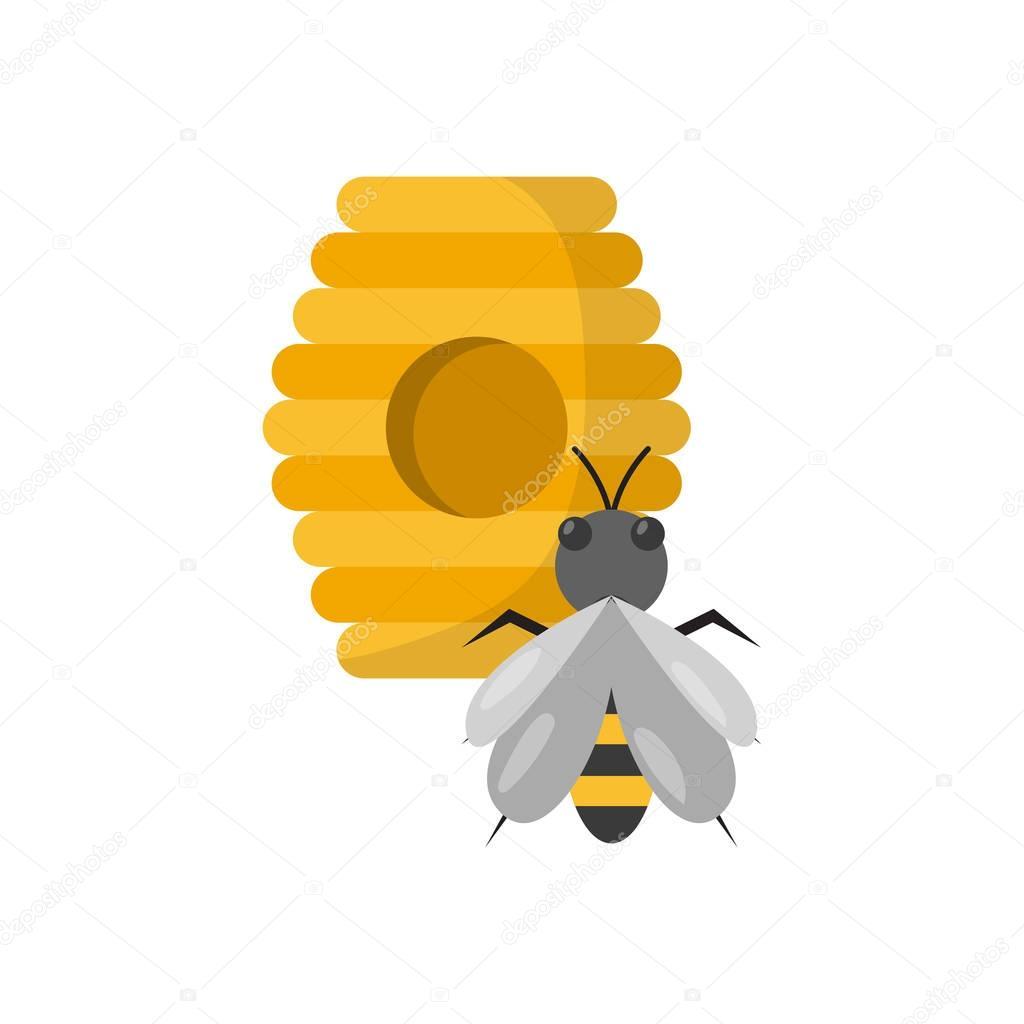 vector de dibujos animados colmena con abejas archivo imgenes vectoriales 130045958