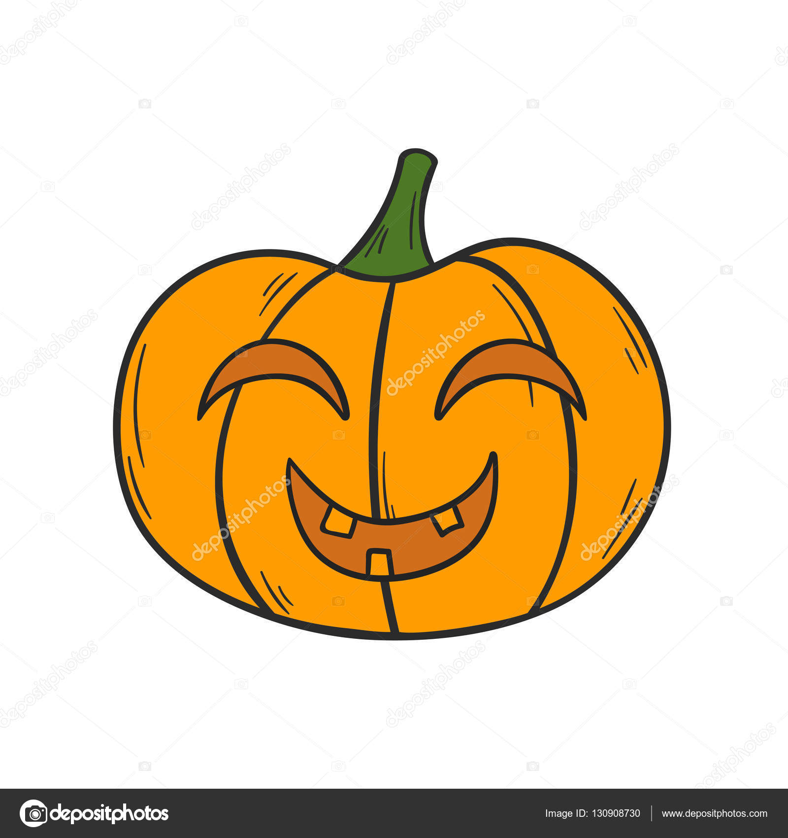 Mano de dibujos animados vector dibujado calabaza de - Calabazas de halloween de miedo ...