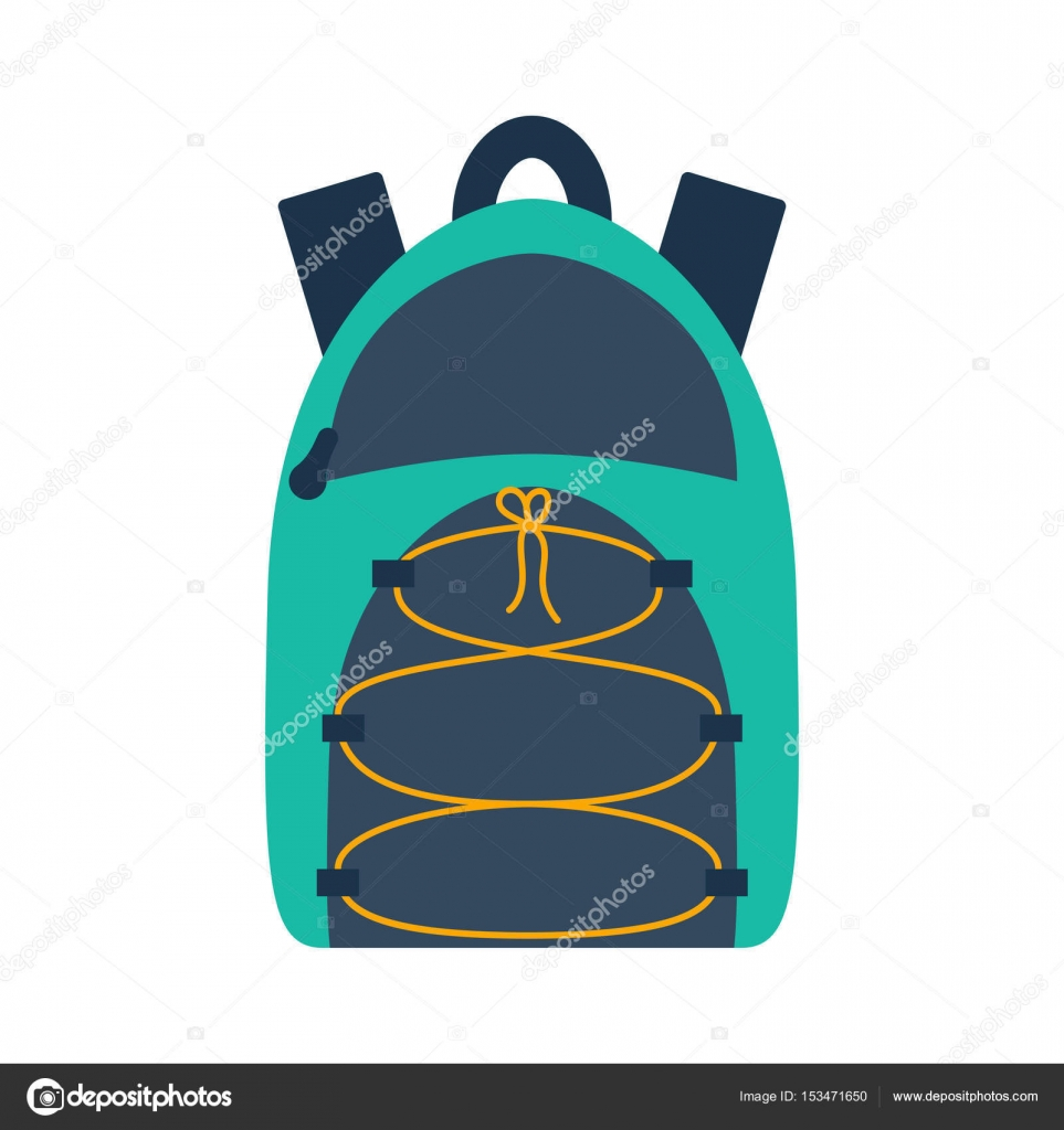 9cda33d371 Διάνυσμα κινουμένων σχεδίων επίπεδη άθλημα ή backpack σχολείο–  εικονογράφηση αρχείου
