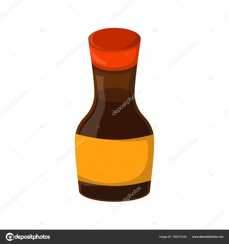 Vector Cartoon Isolated Soy Sauce Stock Vector Petitelili 166272232