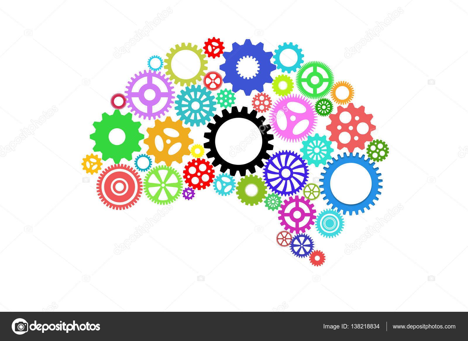 Inteligencia Artificial Con Forma De Cerebro Humano Y