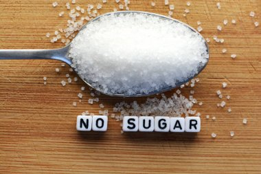 Diabetes concept suggesting no sugar consumption to improve your health