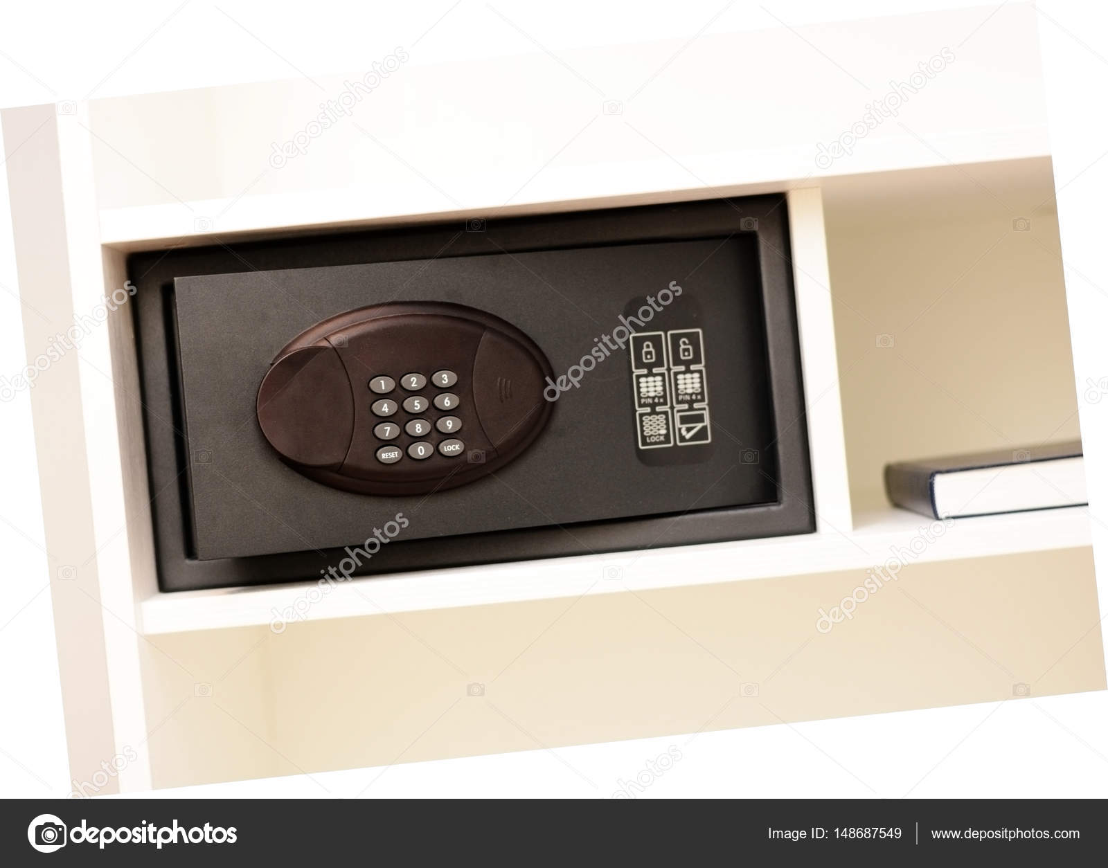 Safety box in hotel room — Stock Photo © Ai825 #148687549