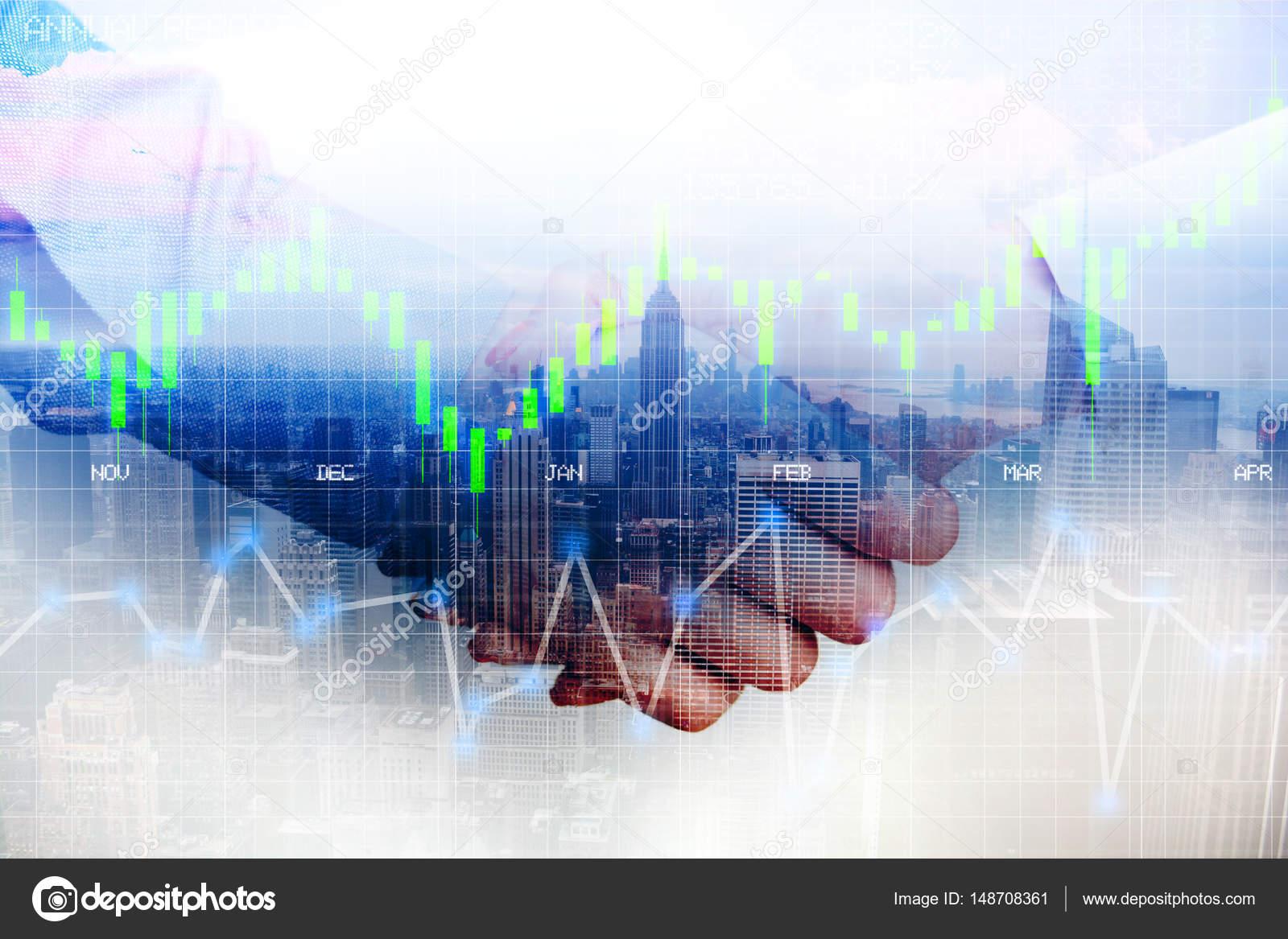 Business Partner Handshake nach Vereinbarung oder einen Vertrag ...