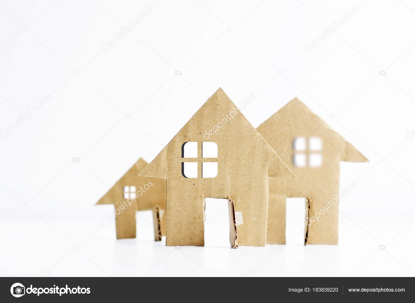 Small Cardboard House Model Small Models Cardboard Houses