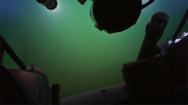 Seabed view of submarine in Pacific Ocean.