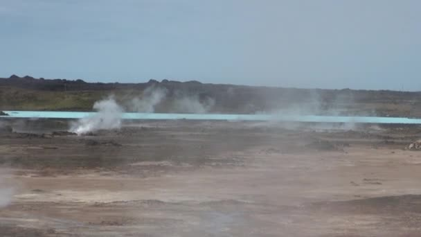 Surface of geysers on shores of Arctic Ocean in Greenland. General plan.