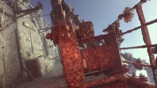 Bort potopené lodi Salem Express pod vodou v Rudém moři v Egyptě