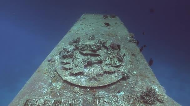 Součást vraky Salem Express pod vodou v Rudém moři v Egyptě