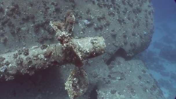 Šroubu lodi vrak Salem Express na mořském dně pod vodou v Egyptě