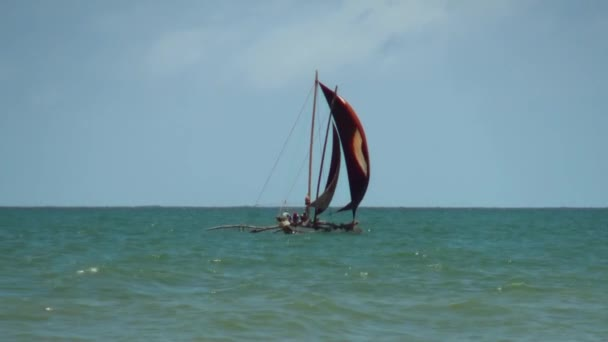 A háttérben a táj vitorlás nyugodt víz, Maldív-szigetek