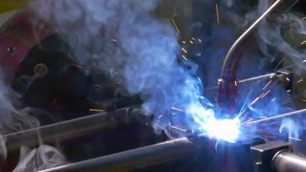 Fém vas lézer argon Hegesztő robot gyár lassítva.