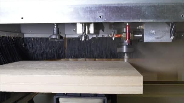 Průmyslové zařízení dřevoobráběcích Cnc časosběrné video