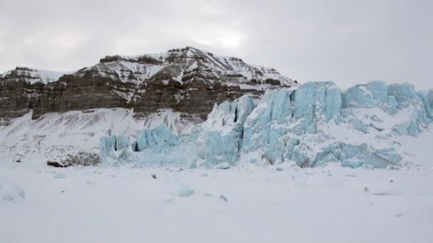 Amazing ice desert landscape in Arctic.