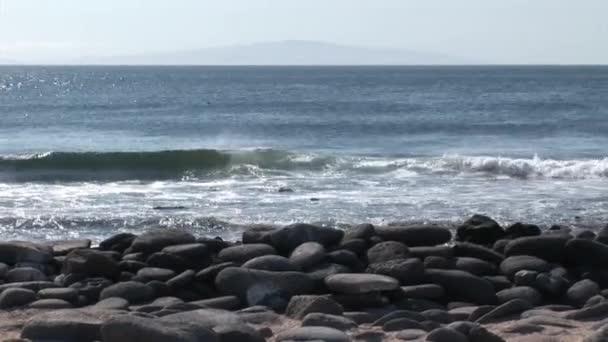 Waves on coast Galapagos Islands.