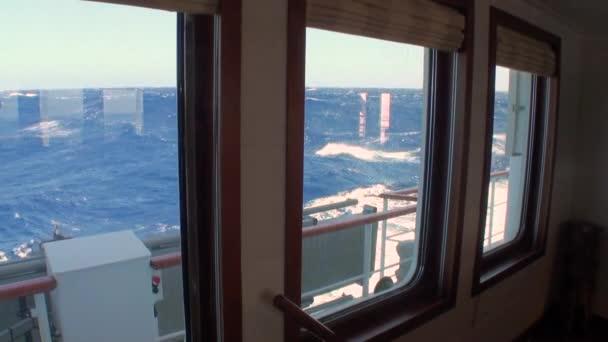 Antarktida na oceán z osobní jachty okna.
