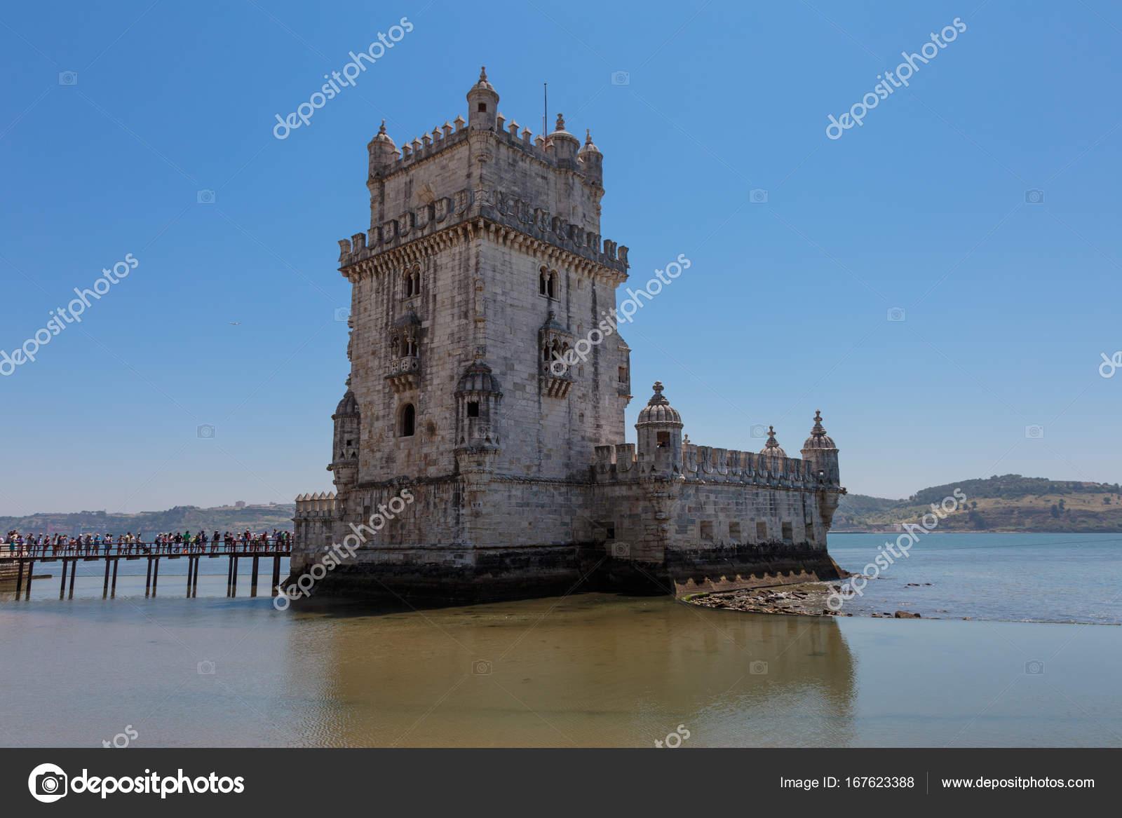 Lissabon Fluss belem turm am fluss tejo in lissabon portugal stockfoto