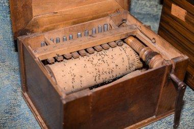 Detail of Inner Parts of Wooden Barrel Organ