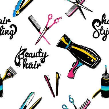Hairdressing flat pattern