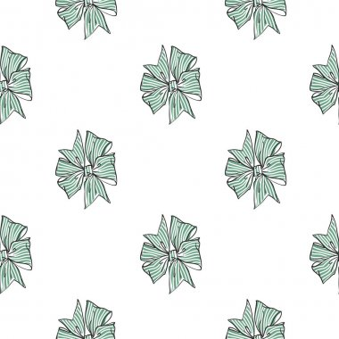 Pattern with flat bows