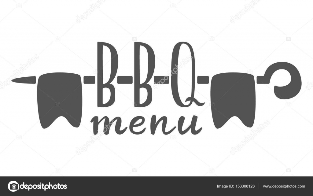 Barbecue menu label, logo and emblem vector templates isolated on ...