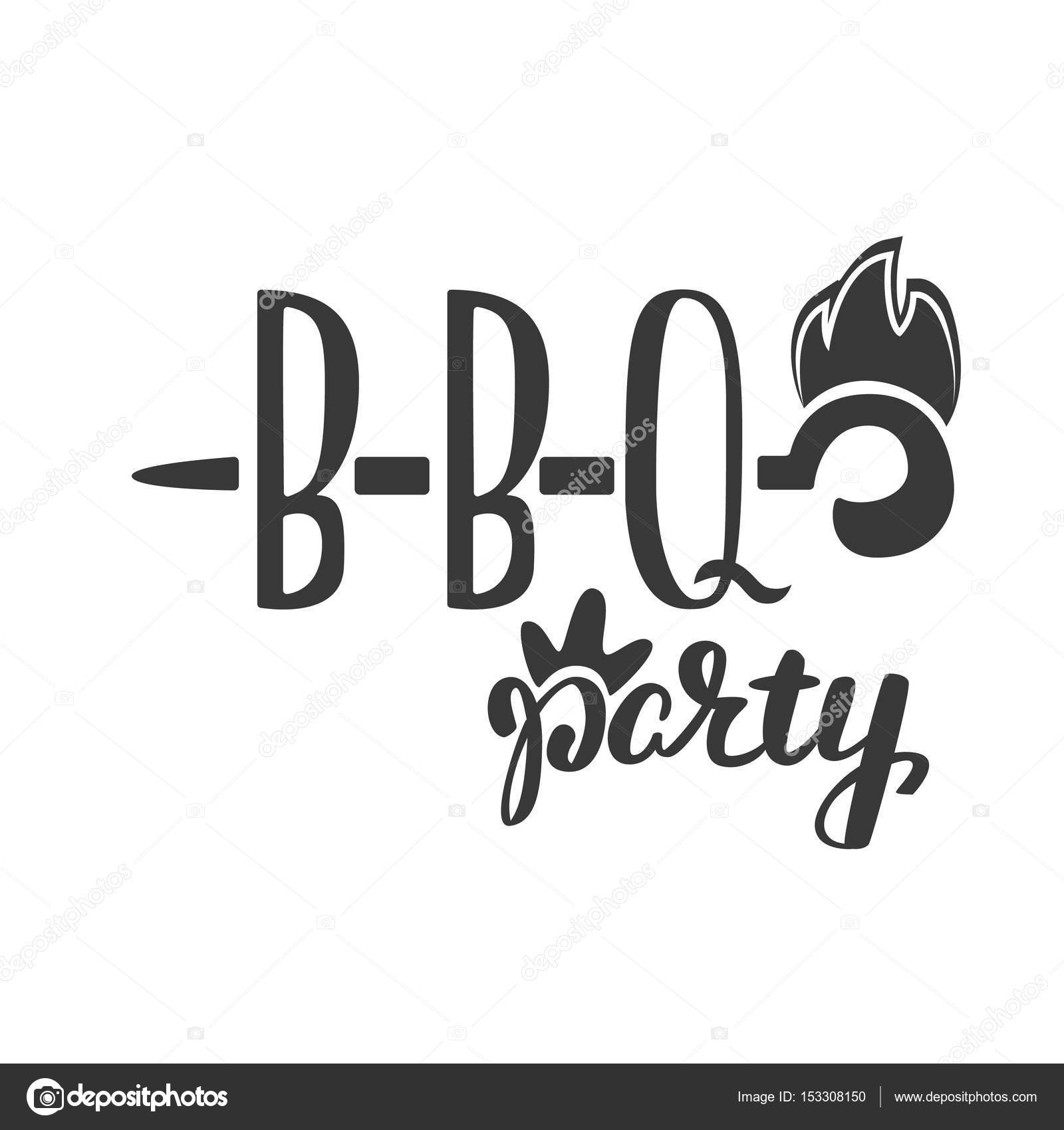barbecue party label logo and emblem vector templates isolated on