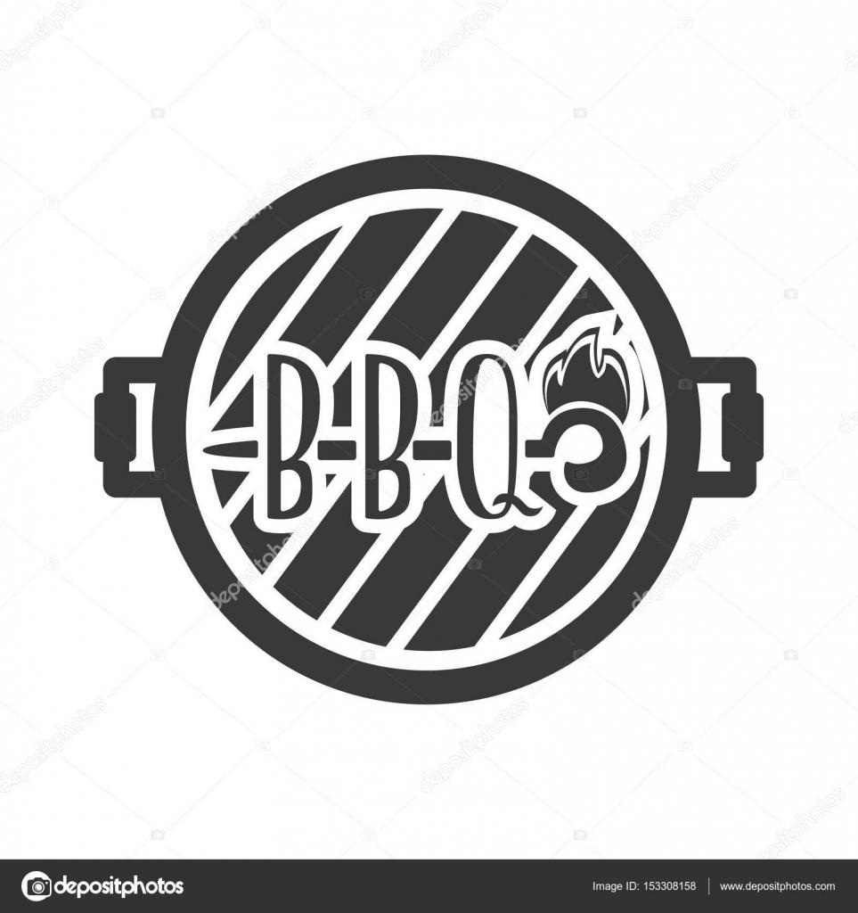 Grill-Menü Etikett, Logo und Emblem Vektor-Vorlagen isoliert auf ...