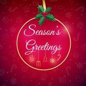 Fotografie Novoroční přání. Rekreační zázemí. Vánoční blahopřání s cetka. Plakát