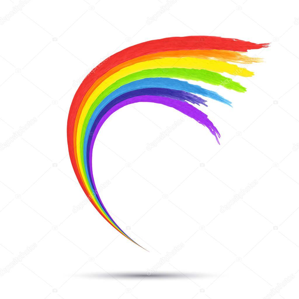 Rainbow Logo Template. Stock Vector Shipiolik #141257956