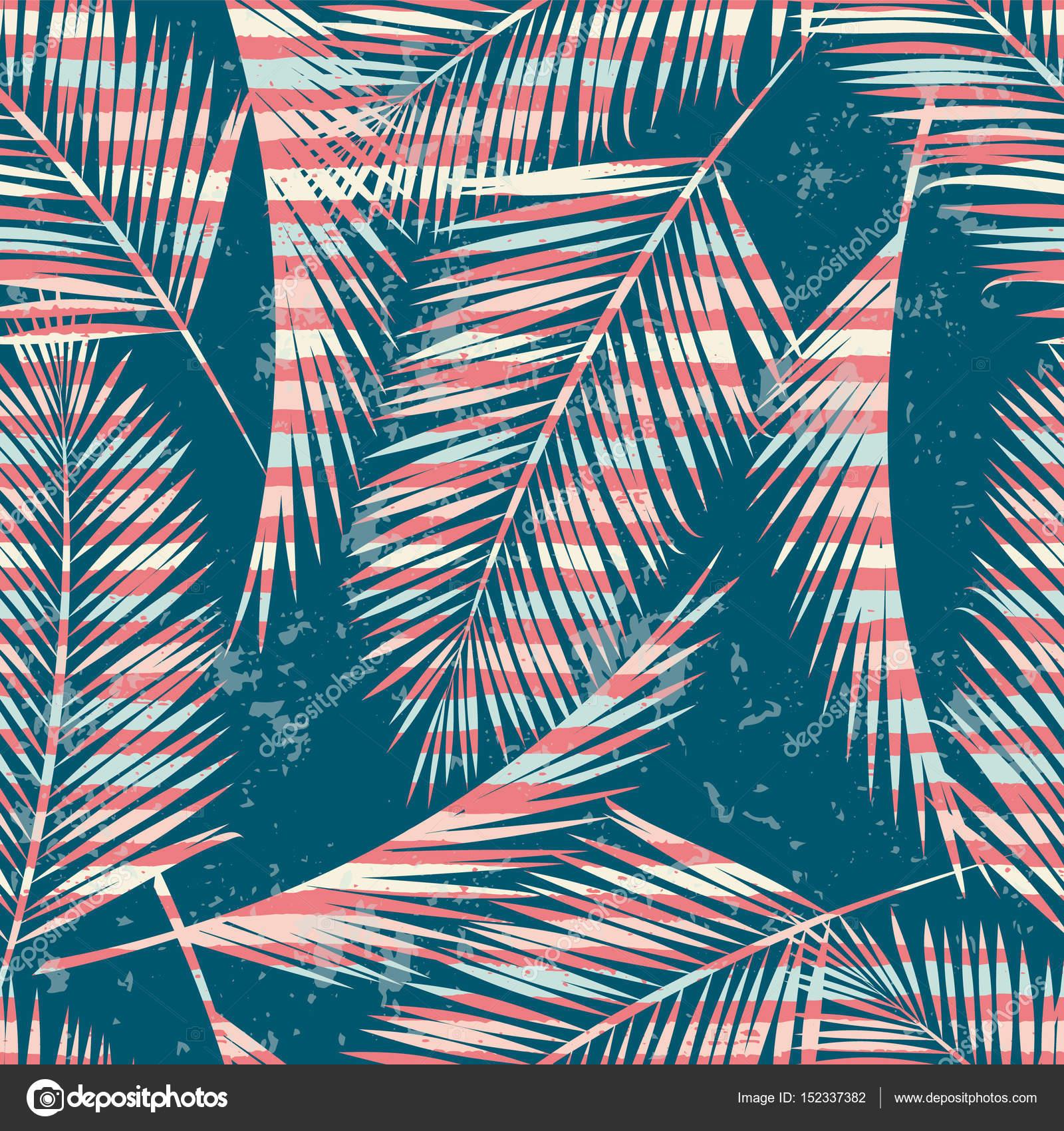 712ee0f3b3 Moda patrones exóticos sin fisuras con Palma y elementos geométricos —  Archivo Imágenes Vectoriales
