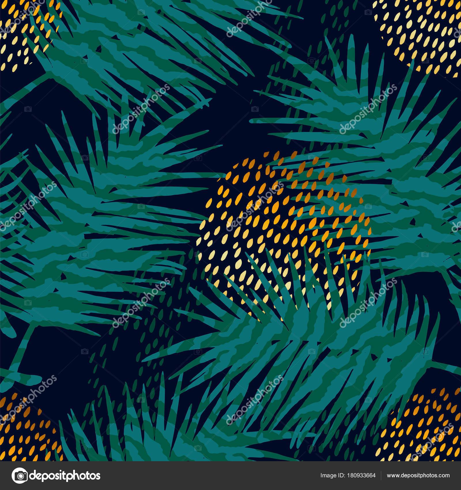 Moda patrones exóticos sin fisuras con estampados de palmeras y ...