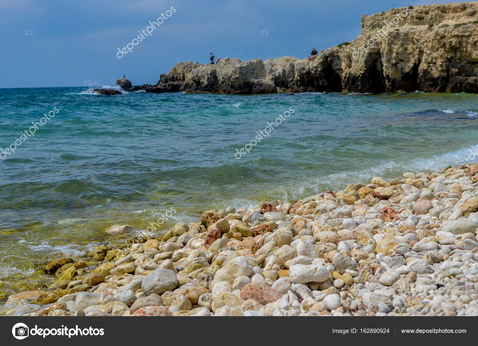 Pebble Beach Of The Black Sea In The Suburbs Of The City Of