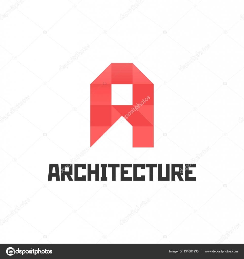 Architektur-Studio-Logo-Vorlage. schreiben. Kreative Logo-Design ...