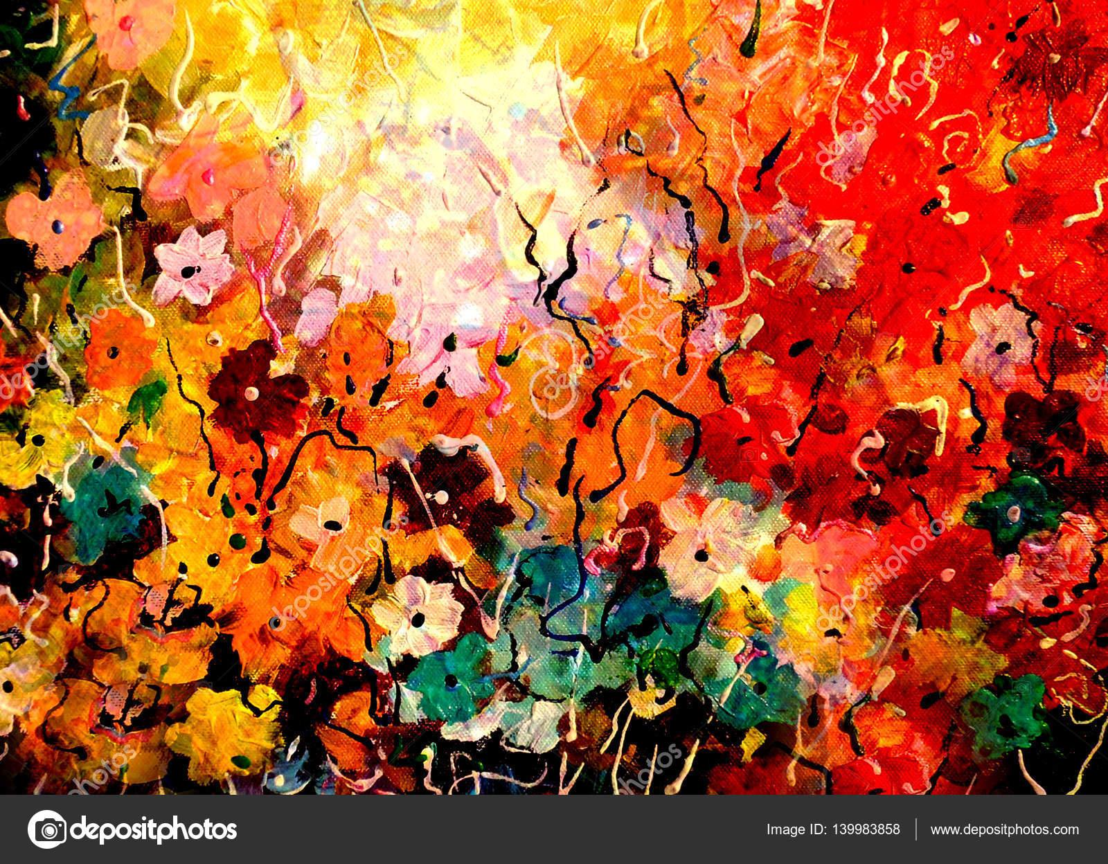 Favoriete Abstract Splash bloemen schilderij — Stockfoto © samillustration @LJ59