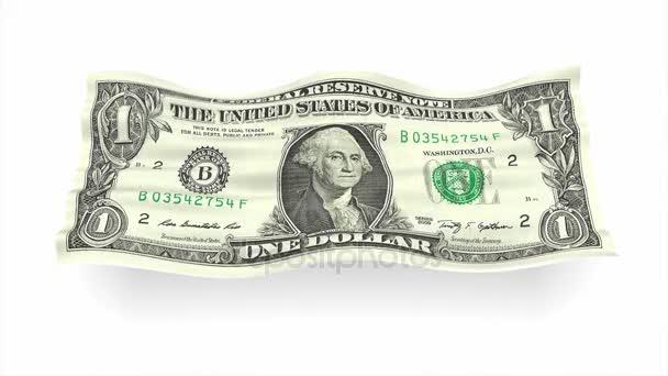Pozadí z americké bankovky dolaru jako příznak vlna 3d ilustrace