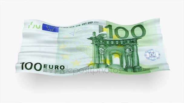 Pozadí z eurobankovky jako příznak vlna 3d obrázek