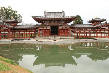 phoenix hall of Byodoin temple in Kyoto, Japan
