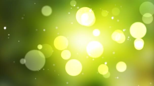 A blot egy zöld háttér hurok élénkség. Lassú mozgás