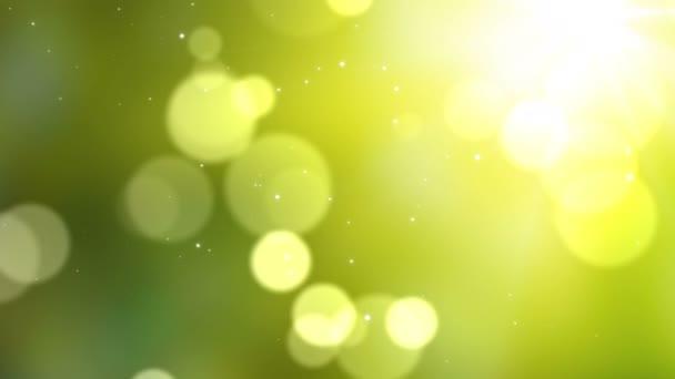 Skvrny na zeleném pozadí smyčky animace. Zpomalený pohyb