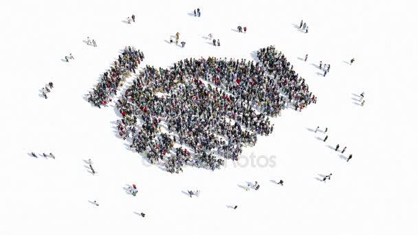 Menschen-Form eines Zeichens der Handshake-Freundschaft