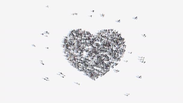 lidé tvar srdce znamení