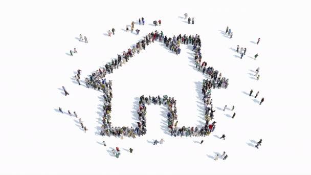 Menschen Form ein Hauszeichen