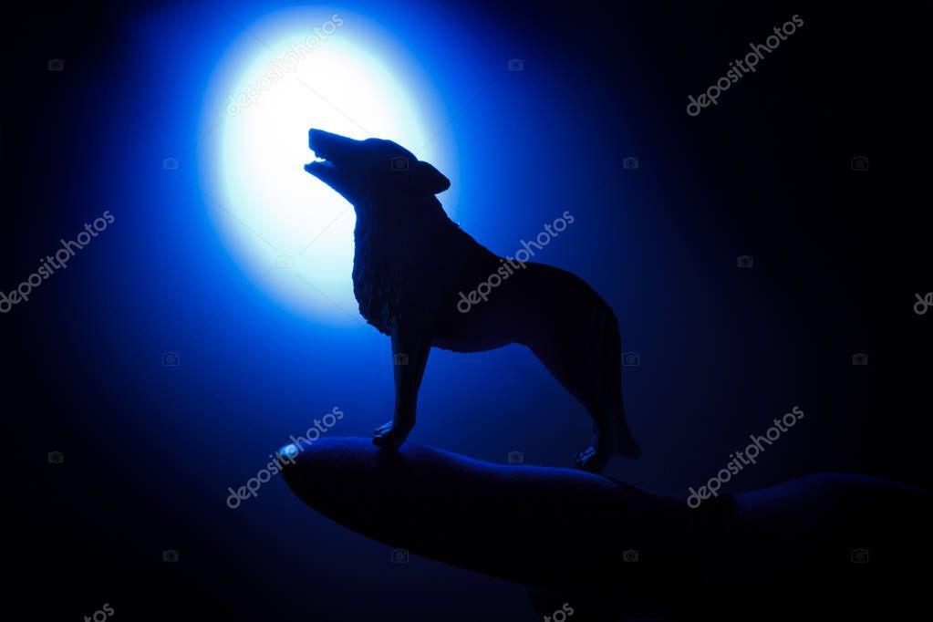 Silueta De Lobo Aullando A La Luna Lobo Aullando A La Luna Llena