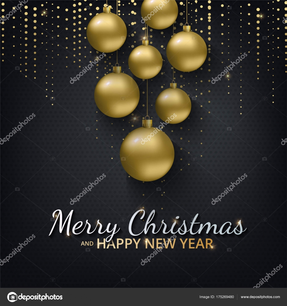 greeting card invitation with happy new year 2018 and christmas stock vector